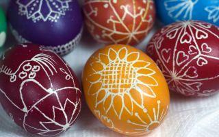 Как покрасить яйца на Пасху | Красиво в домашних условиях с фото