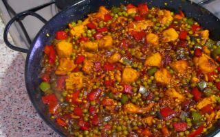 Рецепт паэлии   паэлья с курицей   паэлья с морепродуктами