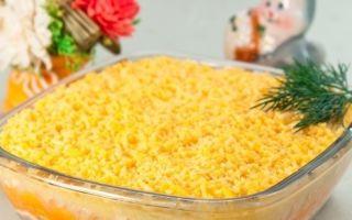 Оригинальный праздничный салат «Новогодний взрыв вкусов»