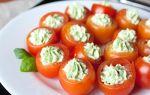 Новогодняя закуска «пряные томаты с сыром»