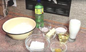 Ингредиенты для сырной лепешки на сковороде